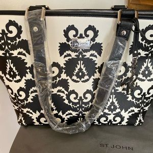 St John B&W Pattern Purse